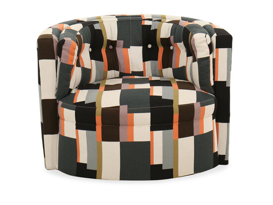 """Abstract-Patterned Modern 38"""" Swivel Chair"""