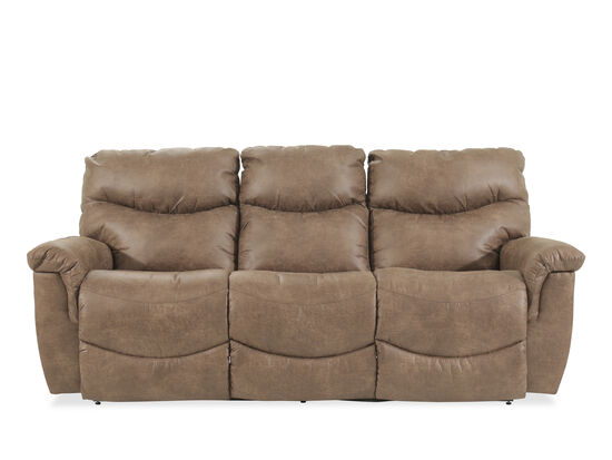 "Casual 87"" Power Reclining Sofa in Brown"