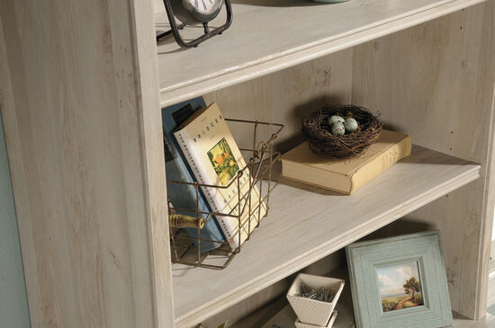 "31"" Open-Shelf Library Hutch in Chalked Chestnut"