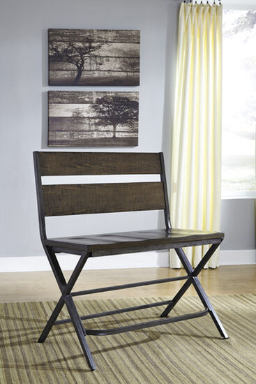 """Casual 60"""" Accented Bench in Almond Wheat"""