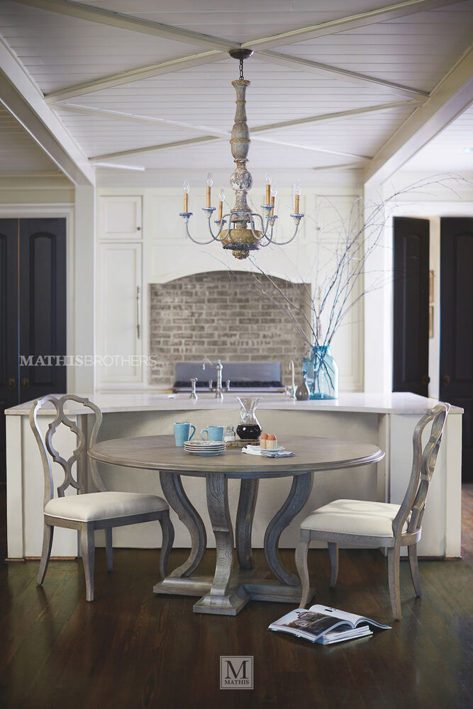 Refined Romantic Luxury 60 Quot Round Dining Table In Gray