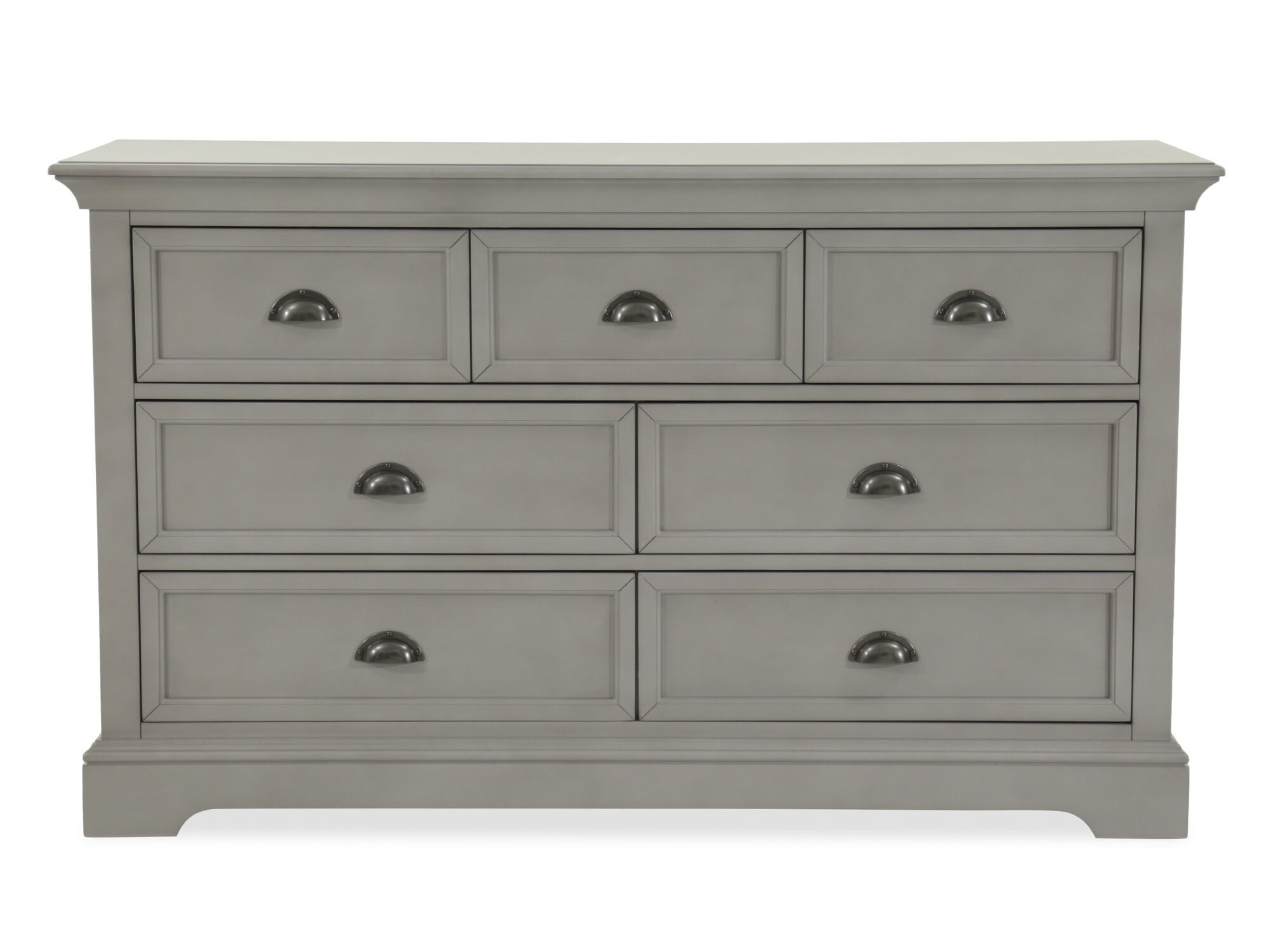 Seven Drawer Contemporary Youth Dresser In Gray Mathis Brothers