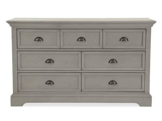 Seven-Drawer Contemporary Youth Dresser in Gray