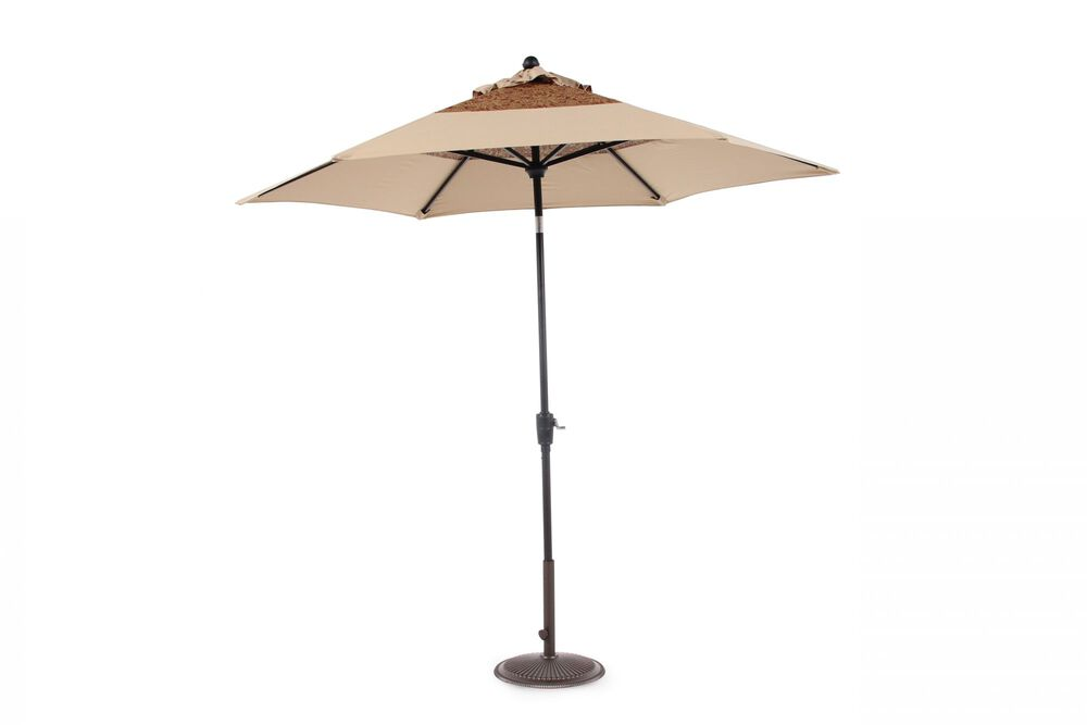 Contemporary Patterned Select Umbrella in Beige