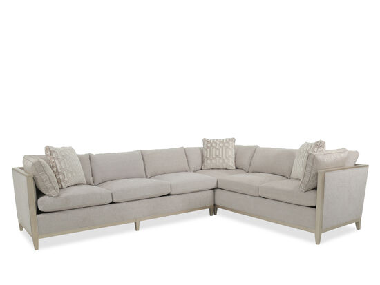 """Two-Piece Transitional 178.5"""" Sectional in Gray"""