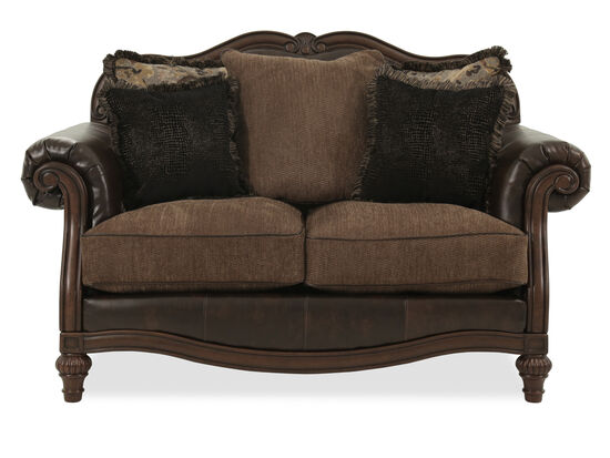 "Camelback Traditional 68"" Loveseat in Brown"