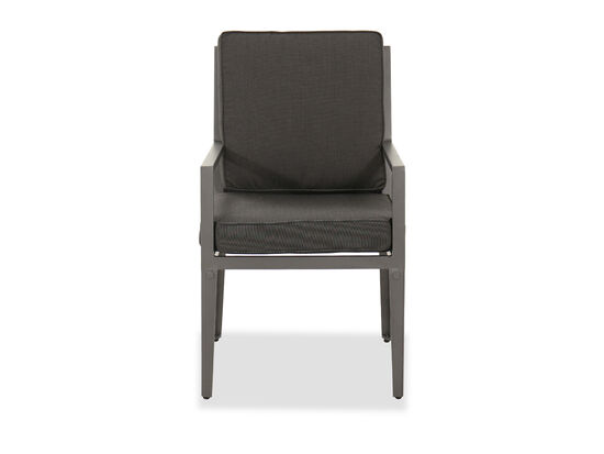Casual Outdoor Dining Arm Chair in Gray
