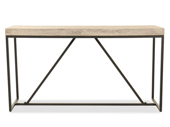 Rectangular Casual Console Table in Gray