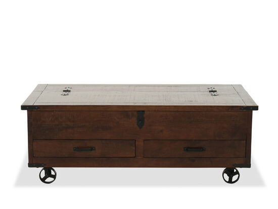 Casual Storage Cocktail Tablein Brown