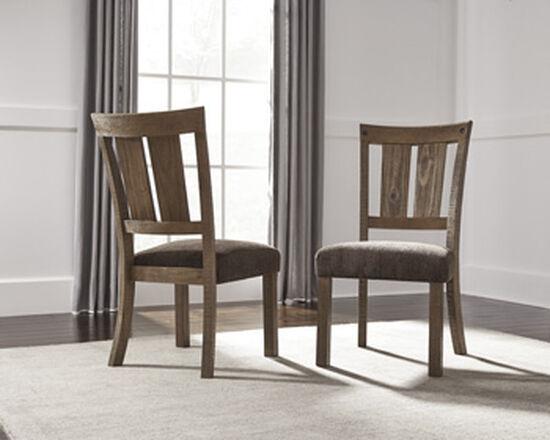 """Slat Back 20.5"""" Upholstered Side Chairin Medium Brown"""