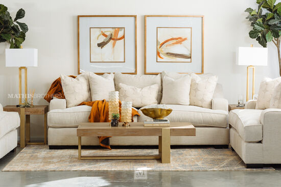 "Casual 98"" Sofa in Beige"