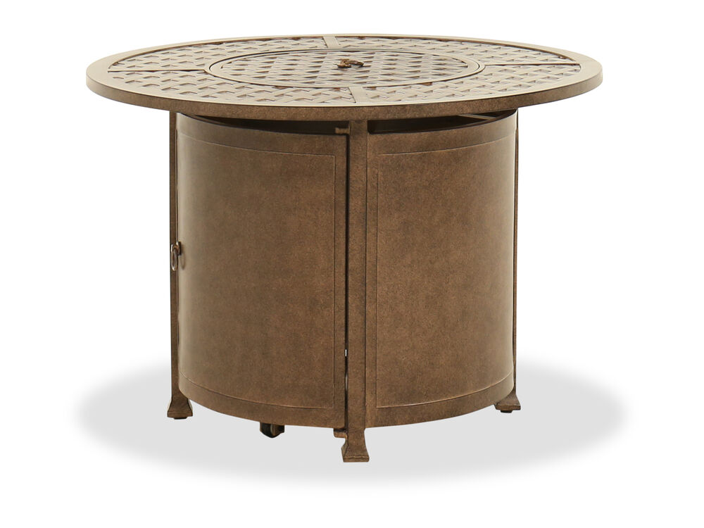 Traditional Fire Pit Table in Brown