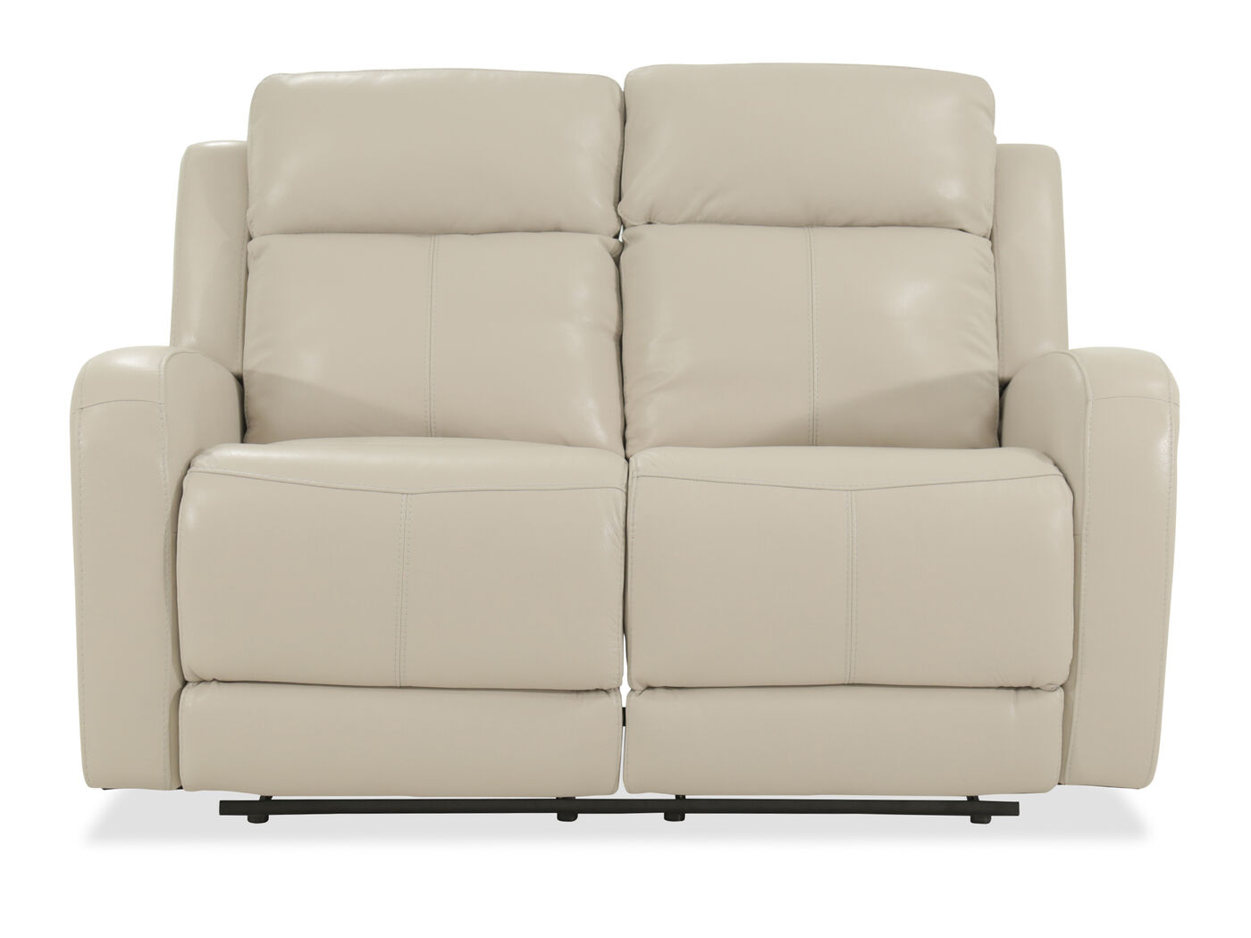 Power Reclining Leather 60 Quot Loveseat In Cream Mathis