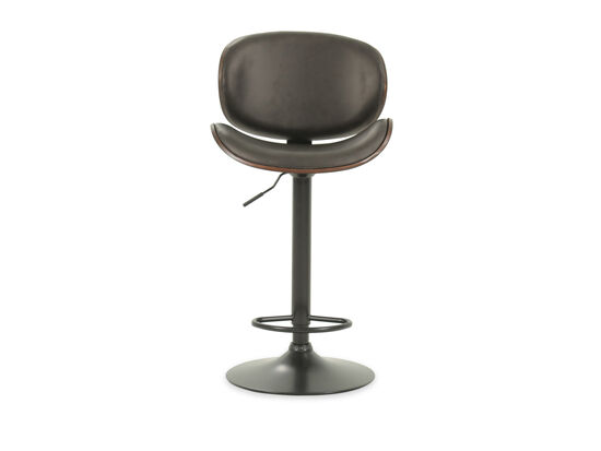 "Contemporary 49"" Adjustable Swivel Bar Stool in Black"