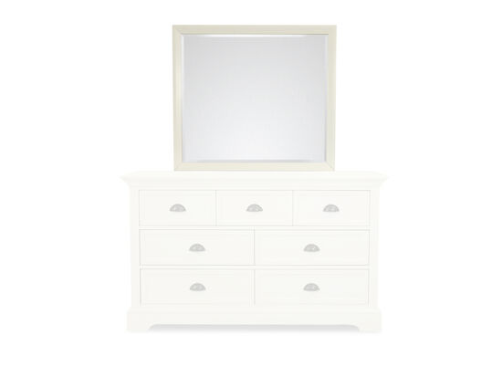 Contemporary Youth Landscape Mirror in White