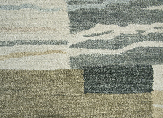 "Transitional Hand-Tufted 2'6"" x 10' Runner Rug in Neutral"