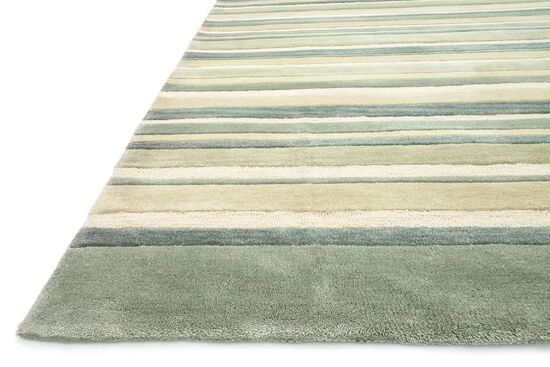 """Contemporary 2'-3""""x7'-6"""" Rug in Ivory/Mist"""