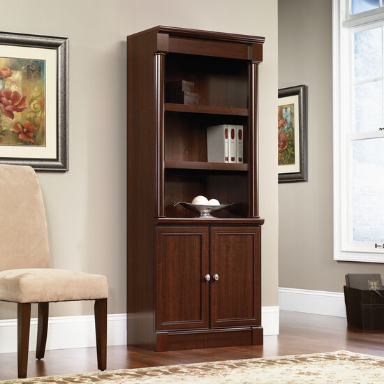 Two-Door Traditional Library in Select Cherry