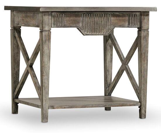 True Vintage End Table in Light Wood
