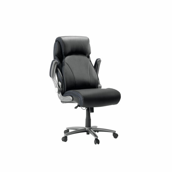 Contoured Executive Office Swivel Tilt Chair in Black