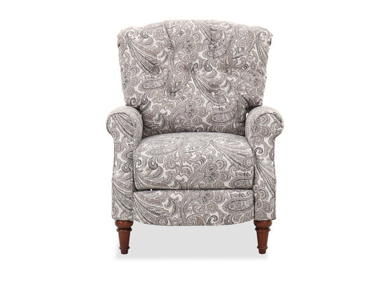 "Paisley-Patterned 33"" Pressback Recliner"
