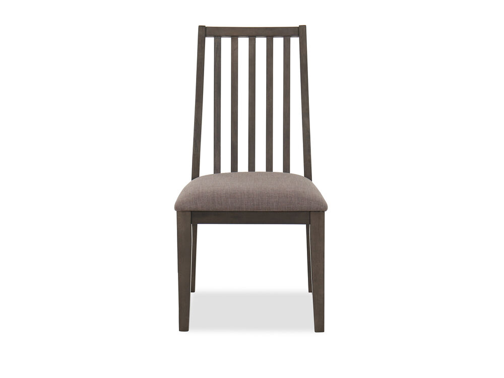 Contemporary Slat Back 37.5'' Side Chair in Gray