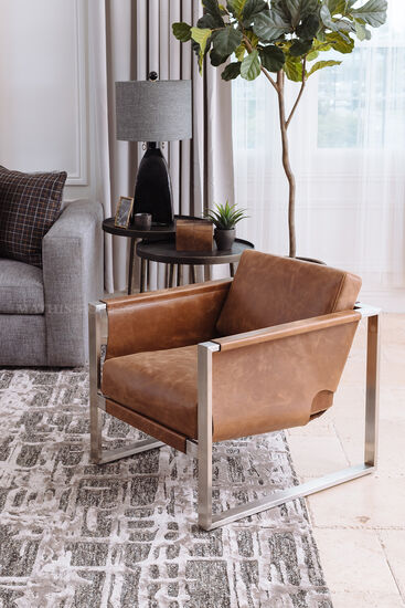 """30"""" Leather Chair in Brown"""