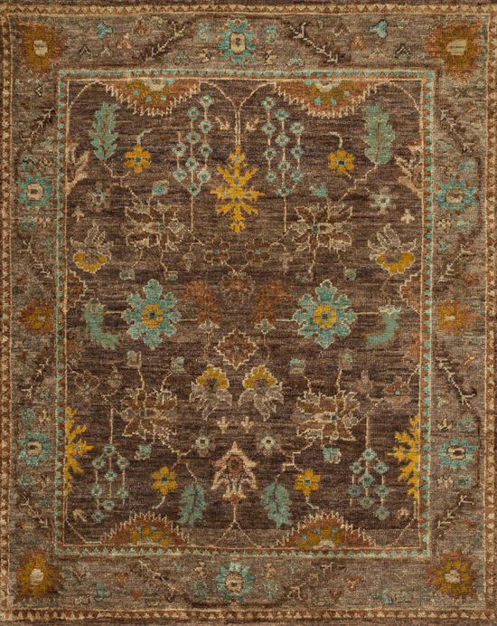 """Contemporary 8'-6""""x11'-6"""" Rug in Brown/Taupe"""