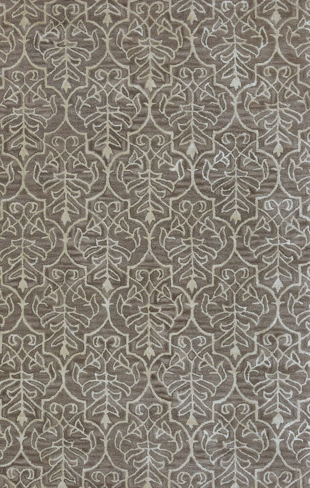 Lb Hand Tufted Wool Viscose Beige Geometric Rug Mathis Brothers Furniture
