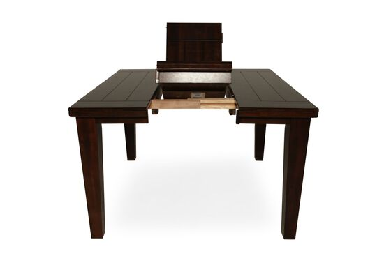 """Casual Butterfly Extension 36"""" to 54"""" Pub Table in Burnished Dark Brown"""