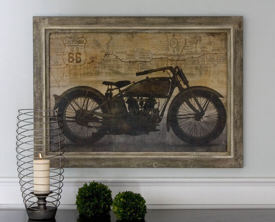 Framed Motorcycle Wall Art