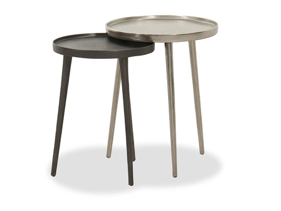 Two-Piece Transitional Nesting Table Set