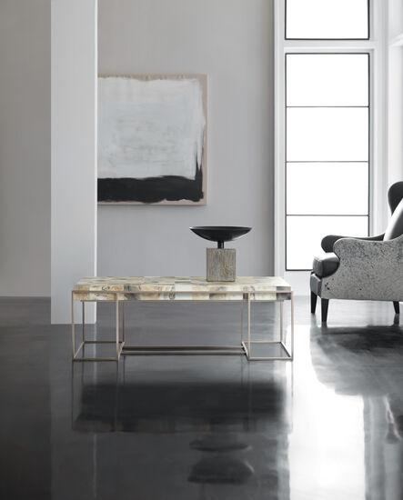 Melange Arden Cocktail Table in Silver