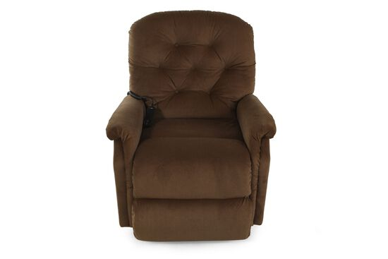 """Textured Contemporary 35"""" Lift Recliner in Camel"""