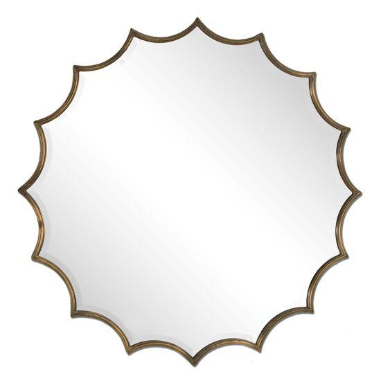 34'' Starburst Accent Mirror in Oxidized Copper