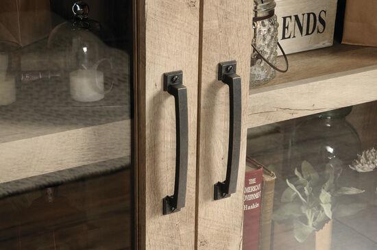 30'' Two-Door Contemporary Display Cabinet in Lintel Oak