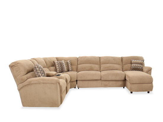 Four-Piece Casual Sectional in Brown