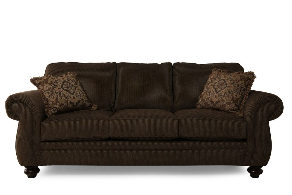 Traditional Corduroy 89 Quot Sofa In Brown Mathis Brothers