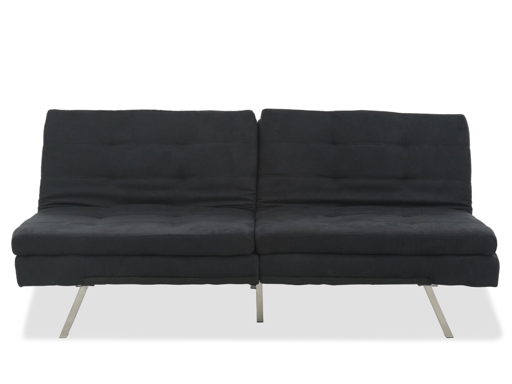 Images Microfiber Transitional 71u0026quot; Convertible Sofa ...