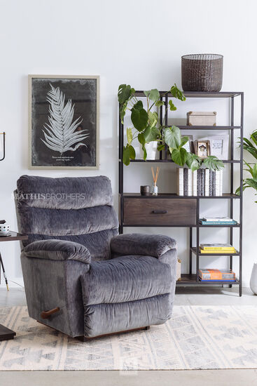 "Contemporary 39.5"" Rocker Recliner in Smoke"