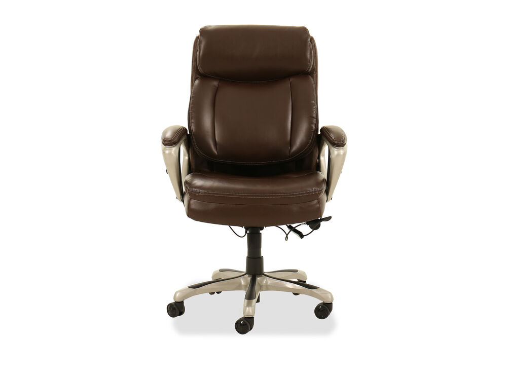 Casual Leather Executive Chair In Brown Mathis Brothers Furniture