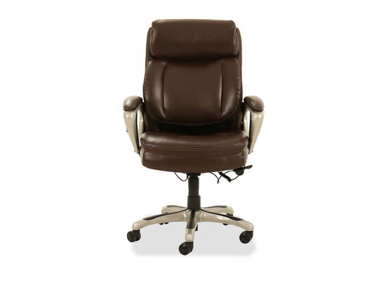 Casual Leather Executive Chair in Brown