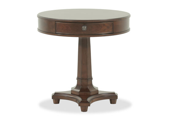 One-Drawer Traditional Lamp Table in Brown