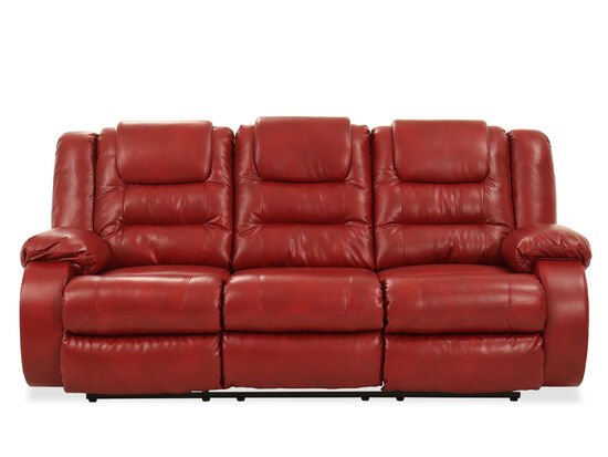 """87"""" Reclining Sofa in Red"""