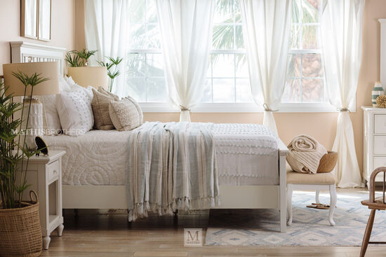 """64"""" Casual Panel Bed in Chalk"""