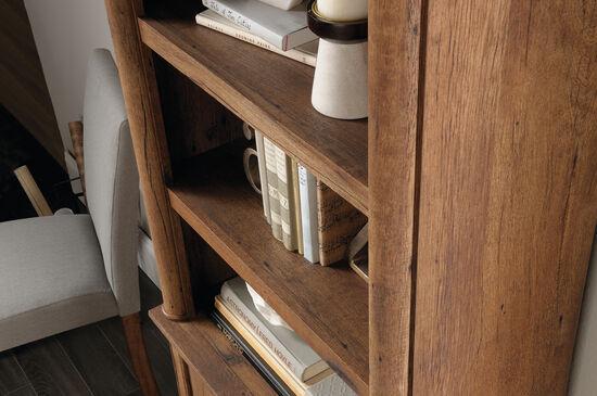 Two-Door Contemporary Library in Vintage Oak