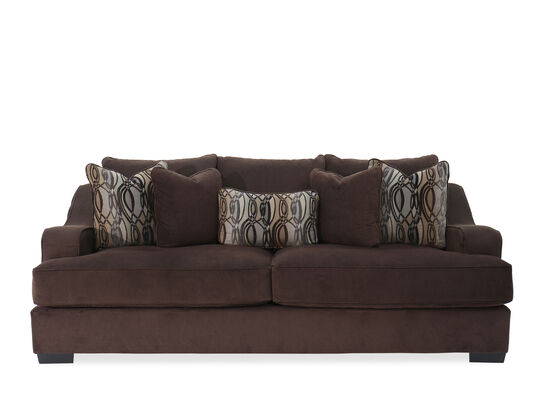 """Traditional 98"""" Sofa in Brown"""