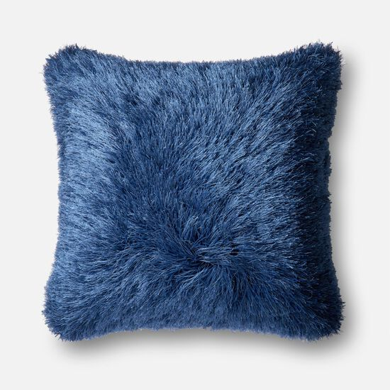 """Contemporary 22""""x22"""" Cover w/Down Pillow in Navy"""