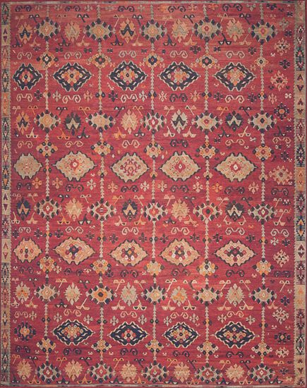 "Traditional 2'-3""x3'-9"" Rug in Brick/Multi"