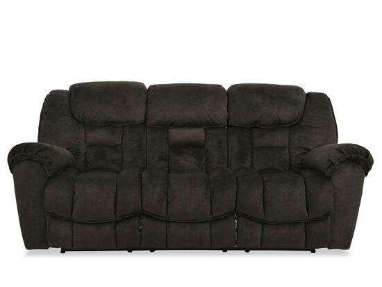 "Modern 91"" Reclining Sofa in Gray"